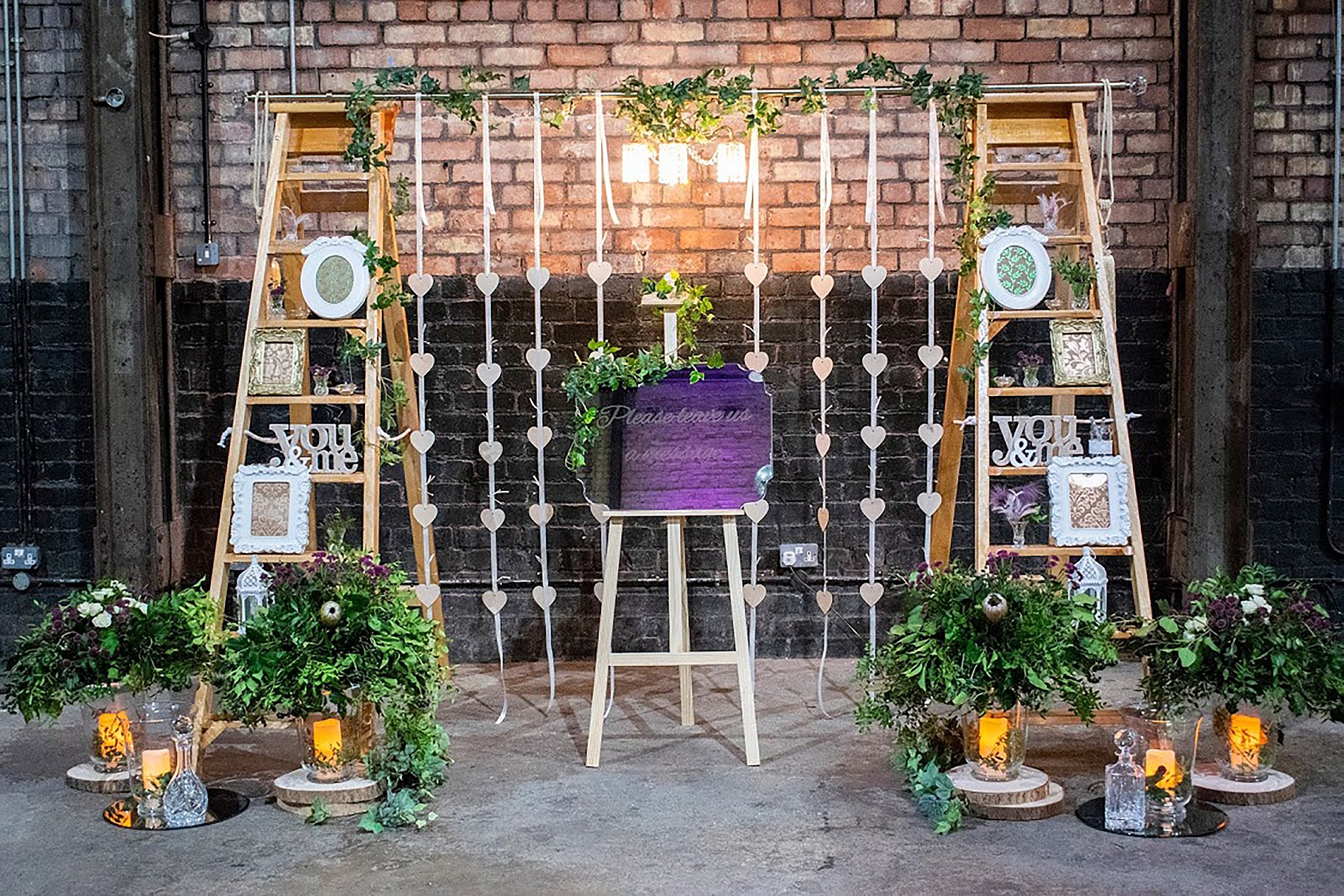 Tracey Hanna Photography - Camp and furnace message display purple