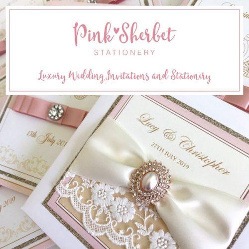 Pink Sherbet Stationery