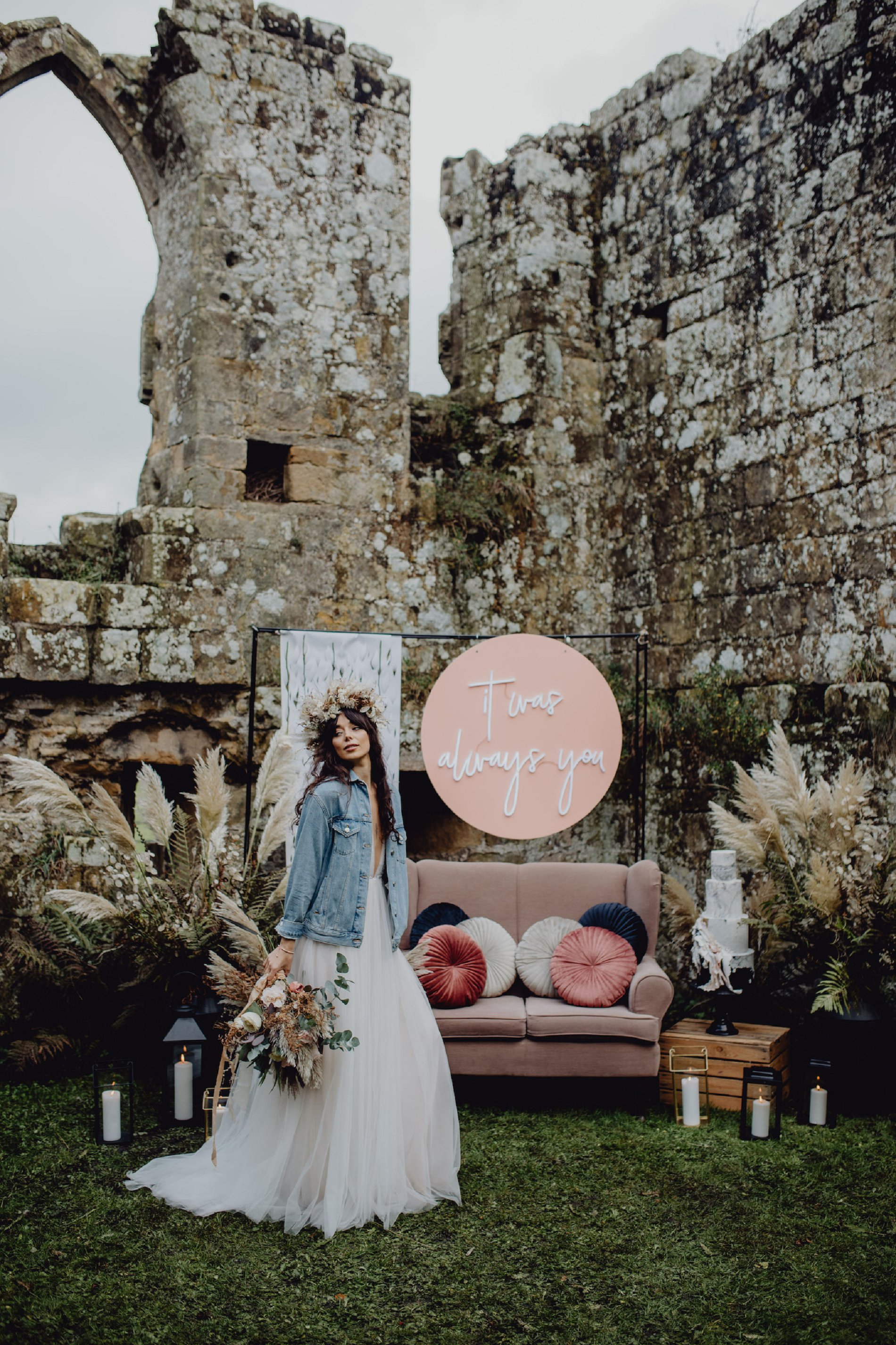 A Dark Romantic Wedding Shoot at Jervaulx Abbey (c) Emilia Kate Photography (11)