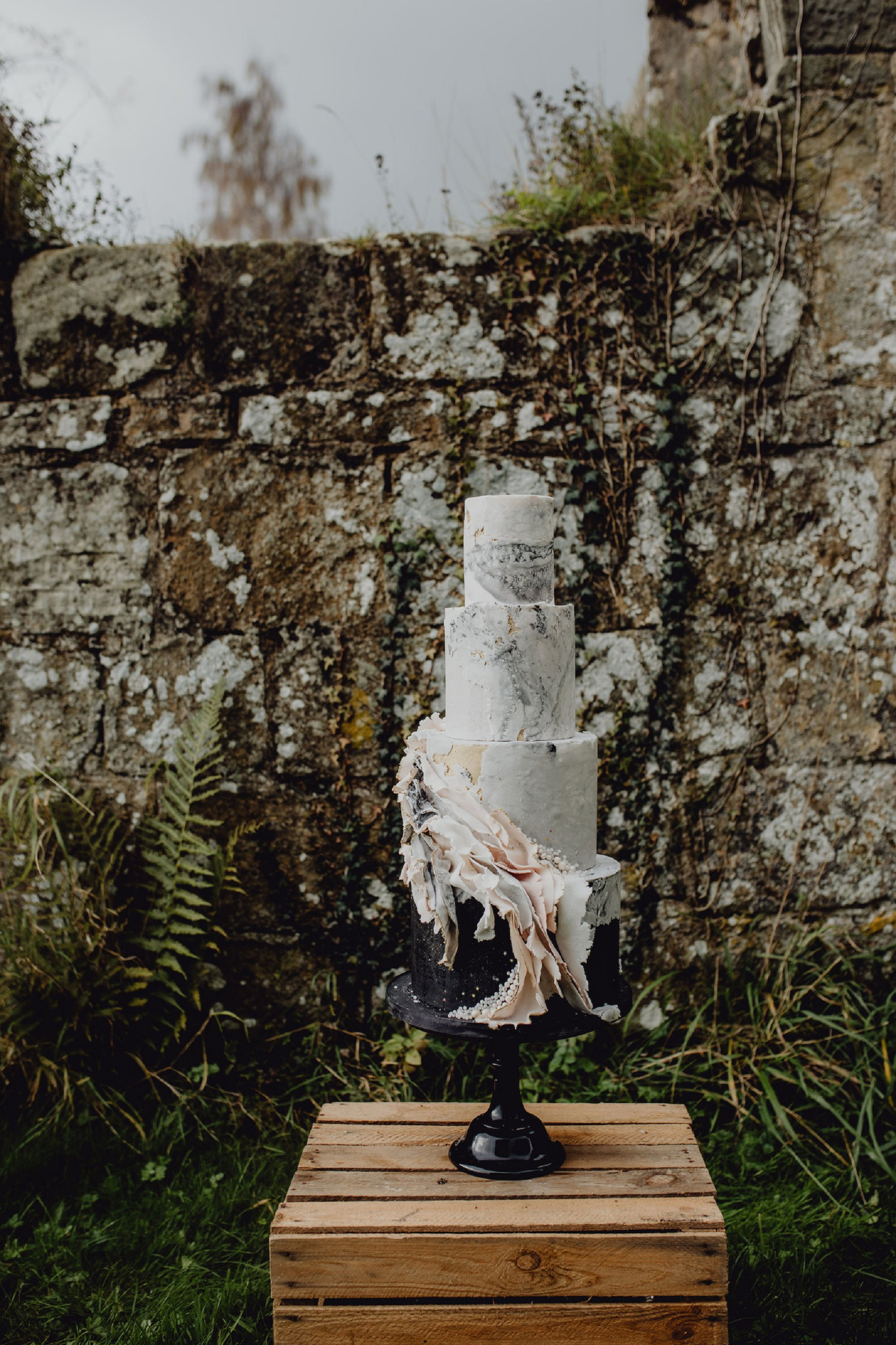 A Dark Romantic Wedding Shoot at Jervaulx Abbey (c) Emilia Kate Photography (16)