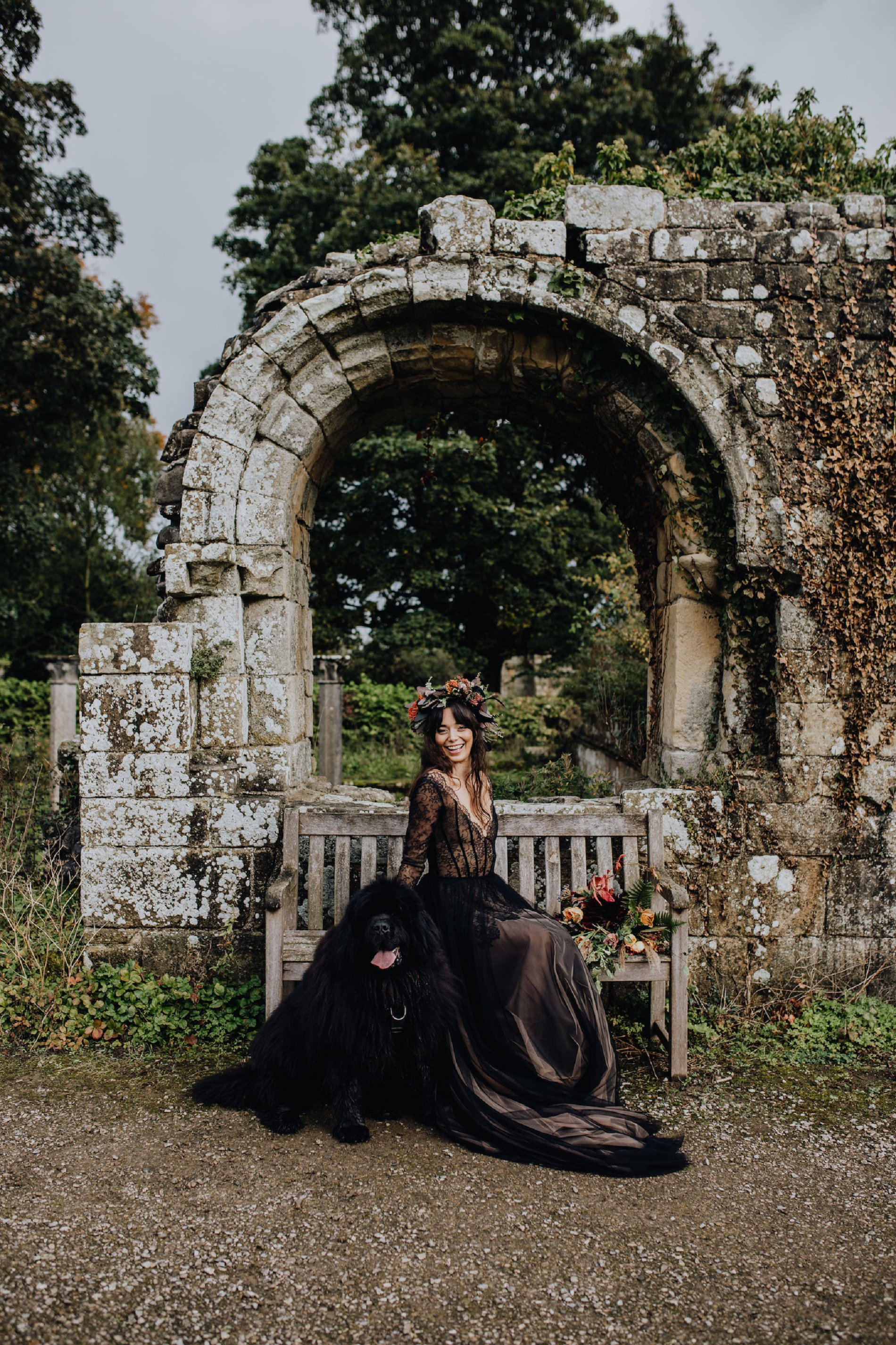 A Dark Romantic Wedding Shoot at Jervaulx Abbey (c) Emilia Kate Photography (28)
