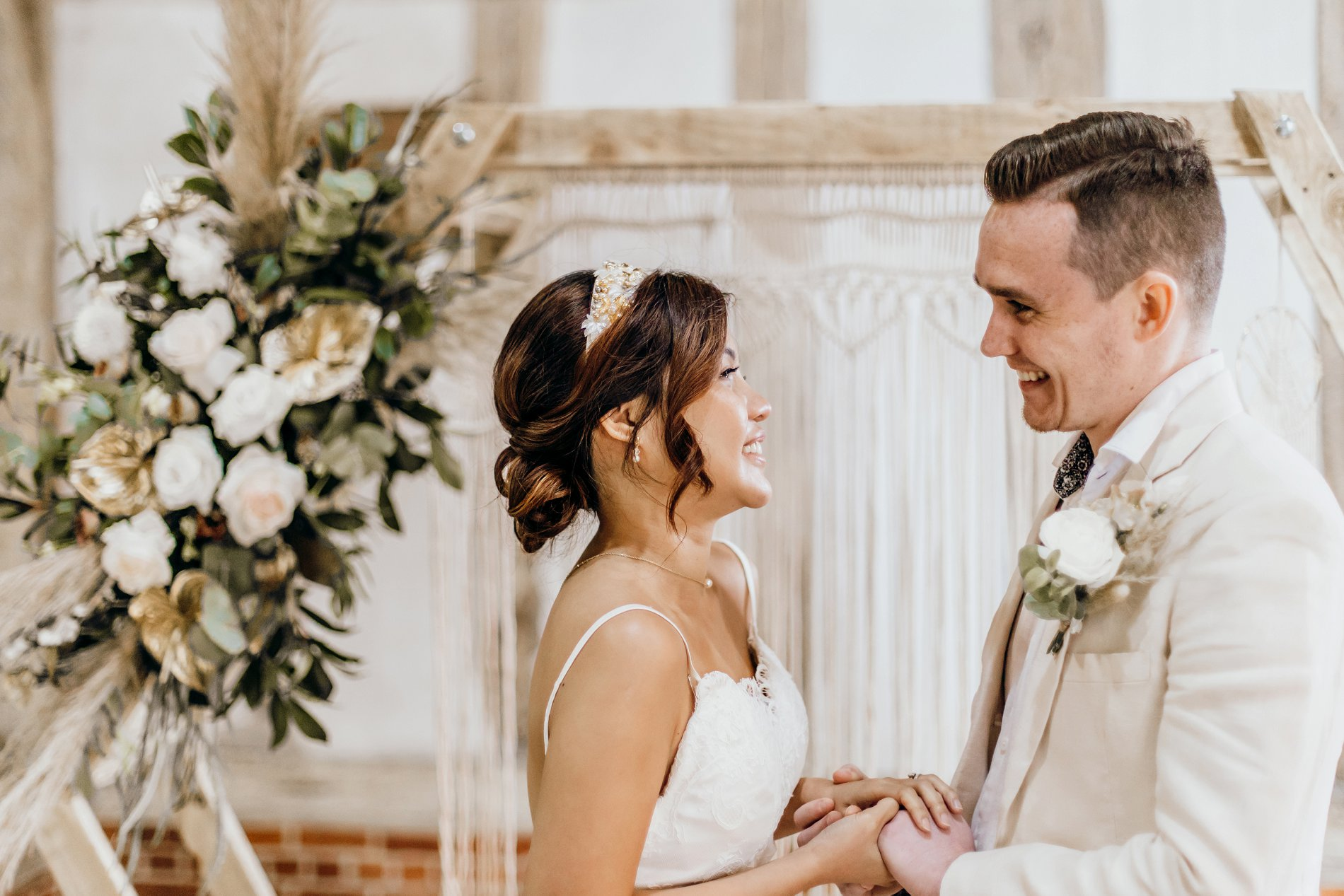 A Golden Boho Wedding Shoot at Cressing Temple Barns (c) Kate Boston Photography (20)
